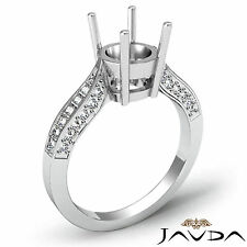 Solitaire Style Diamond Engagement Ring Platinum 950 Round Semi Mount 0.40Ct