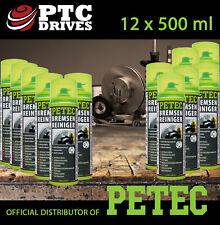 12x 500ml Intensiv Bremsenreiniger, Teilereiniger Spray, Acetonfrei von PETEC