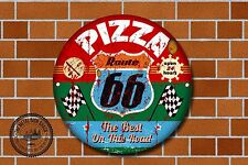 Route 66 PIZZA METAL SIGN, voitures, American, gaz, classique, garage DECOR, 960