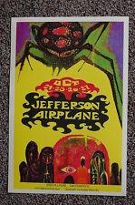 Jeferson Airplane Concert Tour Poster 1966 San Francisco