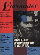 ENCOUNTER MAGAZINE (April 1966)ABRAM TERTZ-SINYAVSKY ON PASTERNAK-GEORGE STEINER