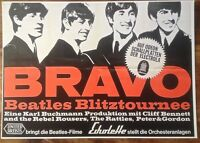 BEATLES GERMAN POSTER  /  A3 SIZE / THICK CARD /  MINT(NEW)