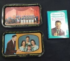 True Vintage Lawrence Welk Tv Lap Trays 2 Serving Trays Collectible+1971 Book A1