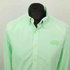 Gaastra Mens Shirt XL Long Sleeve Green SLIM FIT Nautical Cotton