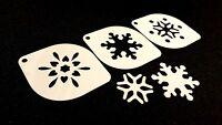#6.1 Set of 3pcs Xmas Stencils Snowflake Christmas Decoration Windows Snow Spray