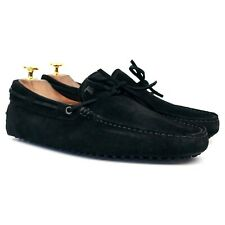 Tod's Gommino Black Suede Driving Loafers UK 7