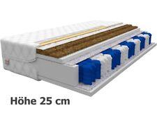 Matratze 90x200 HOME MAX DUO 25 cm 7 Zonen H3 H4 Premium Taschenfederkern KOKOS