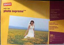 "Staples Ultra Premium Matte Photo Paper 13"" x 19"" 20/Pack (19896) 0419"