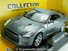NISSAN GT-R CAR MODEL 1/38TH SIZE GREY SPORTS OPENING DOORS TYPE Y0675J^*^