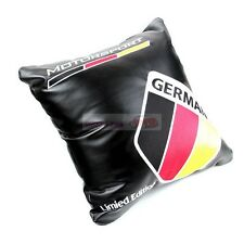 PU Leather Seats Embroidery Throw Pillow Cushion For Germany Flag MOTORSPORT