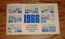 Original 1966 Buick LeSabre Wildcat Electra 225 Owners Operators Manual 66
