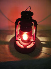 Vintage Dietz Electric Lantern Lamp Red Globe Rustic Farmhouse Table/Hanging