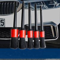 5PCS Hanging Detailing Cleaning Brush Tool Kit Boar Hair Car Interior Wheel Wash