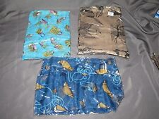 "Set of 3 Viscous Sheer Croissants & Ducks Purses Scarves Wraps Shawls 40"" x 70"""