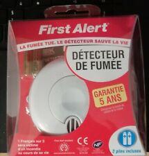 First Alert 1 Détecteur Avertisseur Autonome de fumée garantie 5 ans avec piles