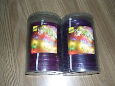 TWO PACKAGES OF LITE F/X ROPE LITES 12'/3.7M CONNECTABLE PURPLE ROPE LITES