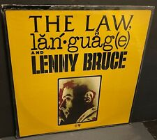 sealed LENNY BRUCE The Law language and Lenny Bruce Phil Spector 1974 SP 9101