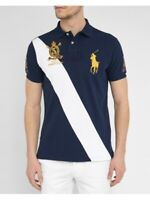 Ralph Lauren Polo Shirt Summer Classic Cross Stripe Big Pony  - Custom Slim Fit