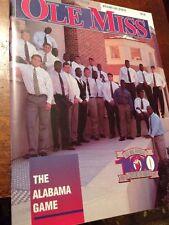 1993 Ole Miss Rebels Vs Alabama Football Program,Vaught Hemingway Stadium