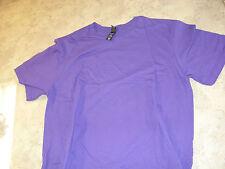 District Concert Tee Short Sleeve Purple Shirt Size L 100% Cotton