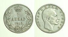 pcc1146_13)  SERBIA 1 DINARO 1912 ARGENTO Silver Coins