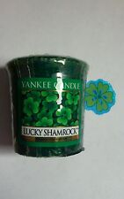 YANKEE CANDLE VOTIVE LUCKY SHAMROCK GRASS SCENT COMBINE SHIPPING HUNDREDS LISTED