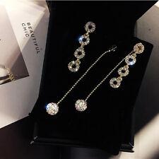 Drop Tassel Ear Studs Jewelry Cf Women Earrings Circle Dangle Long Rhinestone