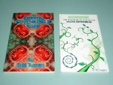 2 Books DM TURNER PSYCHEDELIC LSD DMT SALVIA DIVINORUM Ketamine Mescaline MDMA