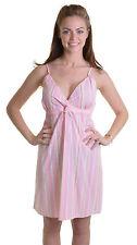 Knee Length T-Shirt Striped Lingerie & Nightwear for Women