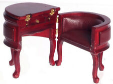 Dollhouse Miniature - Chadwick Desk - Red Mahogany - P3092
