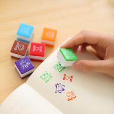 6pcs Novelty Teachers Self Inking Praise Reward Stamps Motivation Cute Kids Toys