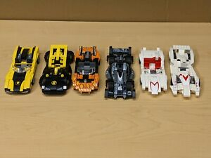6 Lego Speed Racer X 8159 8161 8152 8158 6501 6504 Race Cars - SUPER GLUED READ