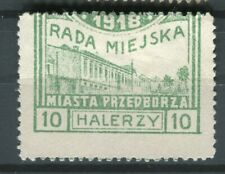 POLAND; 1918 early Rada Miejska Przedborz Local issue mint 10h. value