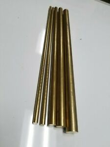 "3//8/"" .375/"" C360 Brass Solid Round Bar Rod H02 12/"" 3 Pieces"