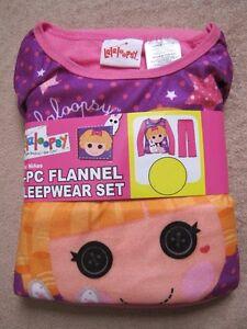 LALALOOPSY w/ Bunny - Purple/Pink L/S Shirt Micro Fleece Pajamas Pjs sz 6/6x