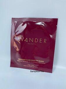 Wander Beauty Gold Baggage Claim Eye Masks 1 Pair