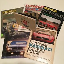 Lot of 7 Vintage Maserati Books, Buyer's Guides, Magazines, Manuals