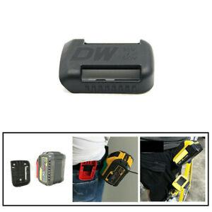 For DEWALT 18V/20v/54V/60V Battery Mounts Storage Holder Shelf Rack Slots Black