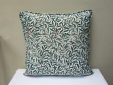 """Cushion in William Morris Willow Bough 17"""" - Made in England, Piped Edge"""