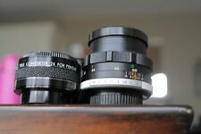 Fujinon 50mm F1.4 lens for M 42 screw mount and tamron 2X converter
