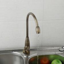 360°Swivel Spout Kitchen Basin Mixer Taps Antique Brass Deck Mounted Sink Faucet