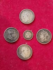 More details for set shilling silver george iii 1816 , george iiii 1823 + 1826 , william iv 1834