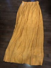 """Vtg Yellow Curtains Drapery JCPenney Fashion Manor PENN-PREST 96""""x80"""" Movie Prop"""