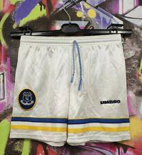 Everton Fc 90s Football Training Shorts Umbro Vintage Old Youth Size 10-11 Years