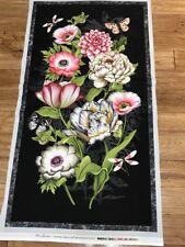 Stunning  Trivoli Flower Garden & Butterfly quilters cotton Fabric  Panel