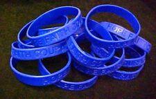 Dark Blue Awareness Bracelets IMPERFECT 12 Piece Lot Silicone Wristband New