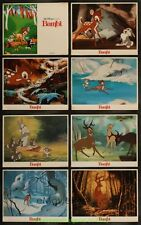 BAMBI LOBBY CARD size 11x14 MOVIE POSTER Set of 8 R1988 Card's  DISNEY ANIMATION