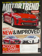 MOTOR TREND  New & Improved  Accord vs Camry December 2017