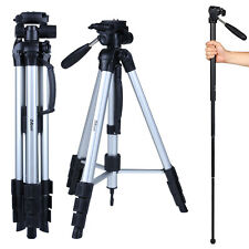 "70"" Professional Camera Camcorder Tripod Monopod Pan Head for Canon Nikon Sony"