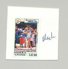 Sierra Leone #1510 Olympics 1v Imperf Proof on Card, Different than Issued